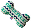 "Doggy Stylz Dog-products New 10"" Aquatic Chevron Inch Canvas Bone Dog Toy"