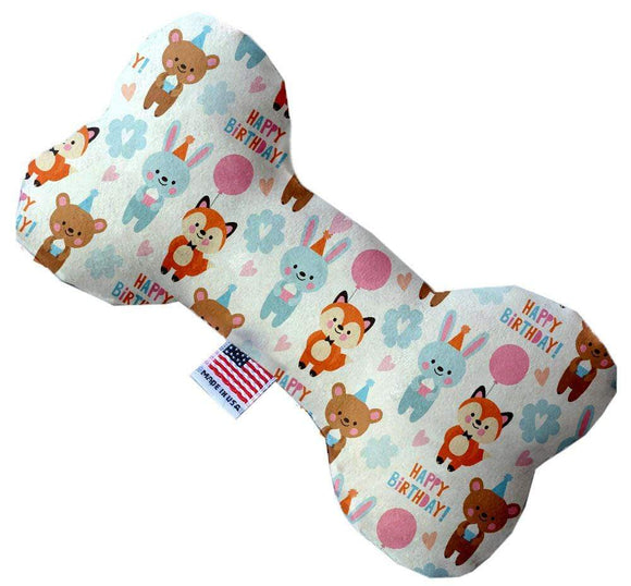 "Doggy Stylz Dog-products New 10"" Birthday Buddies Inch Canvas Bone Dog Toy"