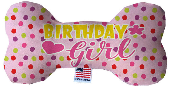 "Doggy Stylz Dog-products New 10"" Birthday Girl Stuffing Free Inch Bone Dog Toy"