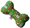 "Doggy Stylz Dog-products New 10"" Christmas Dogs Inch Canvas Bone Dog Toy"
