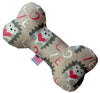 "Doggy Stylz Dog-products New 10"" Hedgehog Love Inch Canvas Bone Dog Toy"