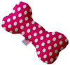 "Doggy Stylz Dog-products New 10"" Hot Pink Swiss Dots Inch Canvas Bone Dog Toy"