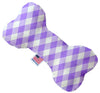 "Doggy Stylz Dog-products New 10"" Purple Plaid Inch Canvas Bone Dog Toy"