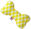 Doggy Stylz Dog-products Toys 10 Inch Yellow Plaid Inch Bone Dog Toy