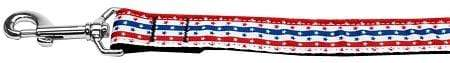 Doggy Stylz Dog-products Dog Collars And Leashes 3/8 Inch Wide 4ft Stars In Stripes Nylon Dog Leash Inch Wide Long