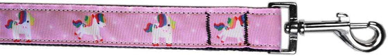 Doggy Stylz Dog-products Unicorns! 3/8in By 4ft Mauve Unicorns Nylon Pet Leash By