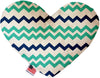 "Doggy Stylz Dog-products New 6"" Aquatic Chevron Inch Heart Dog Toy"
