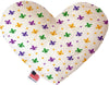 "Doggy Stylz Dog-products New 6"" Confetti Fleur De Lis Mardi Gras Inch Heart Dog Toy"