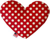 "Doggy Stylz Dog-products New 6"" Red Swiss Dots Inch Heart Dog Toy"
