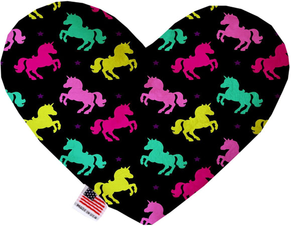 "Doggy Stylz Dog-products Unicorns! 6"" Confetti Unicorns Inch Canvas Heart Dog Toy"