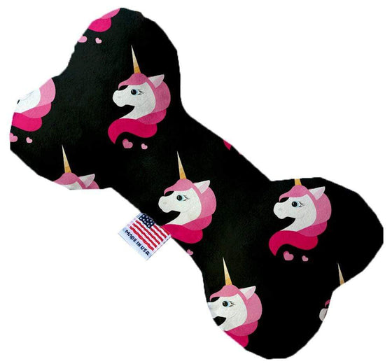 "Doggy Stylz Dog-products Unicorns! 6"" Pretty Pink Unicorns Inch Canvas Bone Dog Toy"