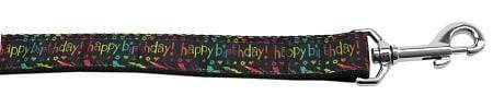 Doggy Stylz Dog-products Dog Collars And Leashes 6 Foot Happy Birthday Nylon Dog