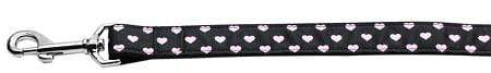 Doggy Stylz Dog-products New Pet Products 6 Foot Pink And Black Dotty Hearts Dog Leash Foot Leash