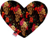 Doggy Stylz Dog-products New 6 Inch Tropical Skulls Inch Canvas Heart Dog Toy