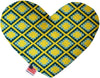 Doggy Stylz Dog-products New 6 Inch Yellow Southwest Inch Canvas Heart Dog Toy