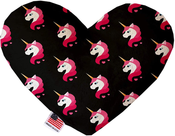 Doggy Stylz Dog-products Unicorns! 6 Inch Pretty Pink Unicorns Inch Canvas Heart Dog Toy