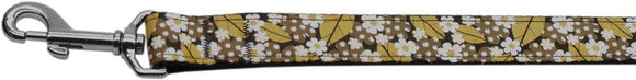 Doggy Stylz Dog-products Dog Collars And Leashes 6ft Autumn Leaves Nylon Ribbon Dog 1 Wide Leash