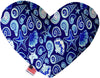 "Doggy Stylz Dog-products New 8"" Blue Seashells Inch Canvas Heart Dog Toy"