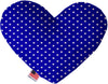"Doggy Stylz Dog-products New 8"" Blue Stars Inch Canvas Heart Dog Toy"