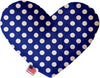 "Doggy Stylz Dog-products New 8"" Bright Blue Swiss Dots Inch Canvas Heart Dog Toy"