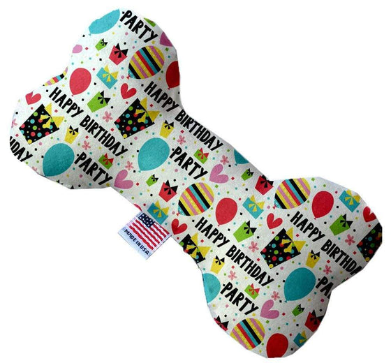 "Doggy Stylz Dog-products New 8"" Happy Birthday Inch Canvas Bone Dog Toy"