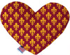 Doggy Stylz Dog-products New 8 Inch Maroon Fleur De Lis Inch Canvas Heart Dog Toy