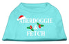 Doggy Stylz Dog-products New Pet Products Aqua / Extra Large Aberdoggie Christmas Screen Print Shirt