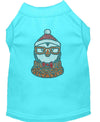 Doggy Stylz Dog-products New! Aqua / XXXL Hipster Penguin Rhinestone Dog Shirt