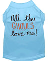 Doggy Stylz Dog-products New! Baby Blue / XXL All The Ghouls Screen Print Dog Shirt