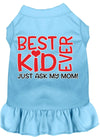 Doggy Stylz Dog-products New Baby Blue / XXL Ask My Mom Screen Print Dog Dress