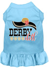 Doggy Stylz Dog-products New Baby Blue / XXL Derby Doll Screen Print Dog Dress