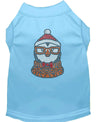 Doggy Stylz Dog-products New! Baby Blue / XXL Hipster Penguin Rhinestone Dog Shirt