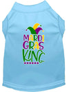 Doggy Stylz Dog-products New Baby Blue / XXL Mardi Gras King Screen Print Mardi Gras Dog Shirt