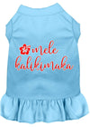 Doggy Stylz Dog-products New Baby Blue / XXL Mele Kalikimaka Screen Print Dog Dress