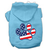 Doggy Stylz Dog-products Pet Apparel Baby Blue / XXL Patriotic Paw Screen Print Pet Hoodies