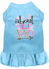 Doggy Stylz Dog-products New Baby Blue / XXXL All About The Xoxo Screen Print Dog Dress