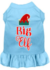 Doggy Stylz Dog-products New Baby Blue / XXXL Big Elf Screen Print Dog Dress