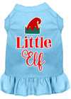 Doggy Stylz Dog-products New Baby Blue / XXXL Little Elf Screen Print Dog Dress
