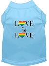 Doggy Stylz Dog-products New Baby Blue / XXXL Love Is Love Screen Print Dog Shirt