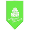 Doggy Stylz Dog-products Dog Bandanas Bandana Lime / Large Wedding Crasher Screen Print Bandana