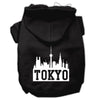 Doggy Stylz Dog-products Pet Apparel Black / Extra Large Tokyo Skyline Screen Print Pet Hoodies Size
