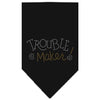 Doggy Stylz Dog-products Dog Bandanas Black / Large Trouble Maker Rhinestone Bandana