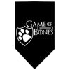 Doggy Stylz Dog-products General Black / Large Game Of Bones Screen Print Bandana