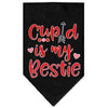 Doggy Stylz Dog-products New Black / Large Cupid Is My Bestie Screen Print Bandana