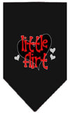 Doggy Stylz Dog-products New Black / Large Little Flirt Screen Print Bandana