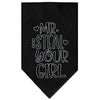 Doggy Stylz Dog-products New Black / Large Mr. Steal Your Girl Screen Print Bandana