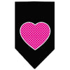 Doggy Stylz Dog-products New Pet Products Black / Large Pink Swiss Dot Heart Screen Print Bandana