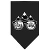 Doggy Stylz Dog-products New! Black / Large Stay Wild Screen Print Bandana