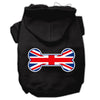 Doggy Stylz Dog-products Pet Apparel Black / Large Bone Shaped United Kingdom (union Jack) Flag Screen Print Pet Hoodies
