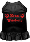 Doggy Stylz Dog-products Apparel Black / MEDIUM Local Celebrity Screen Print Dress Black